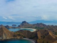 Beautiful landscape on Padar Island, Komodo National Park.