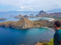 View from the top of Padar Island, Komodo National Park.