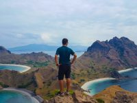 Silviu on top of the Padar Island, Komodo National Park
