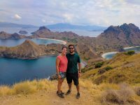 Posing on the top of Padar Island, Komodo National Park.
