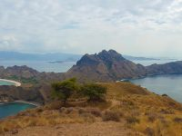 Panoramic view from the top of Padar Island, Komodo National Park