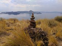 The trail is this way. Padar Island, Komodo National Park