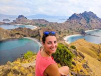 Smiles from the top of Padar Island, Komodo National Park.