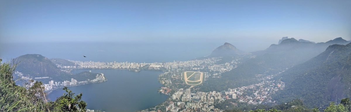 View over Rio de Janeiro with Ipanema beach in the back. This is what awaits you on the top of Corcovado after the hike.
