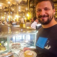 Confeitaria Colombo - Silviu opted for the lemon pie with meringue.A bit too sweet for our taste.