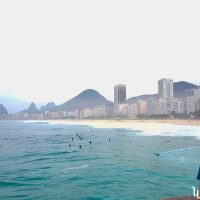 Copacabana and its surfers