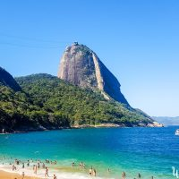 Praia Vermelha, in fornt of the Sugar Loaf