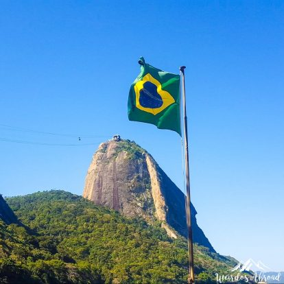 Sugarloaf Mountain is a peak situated in Rio de Janeiro.