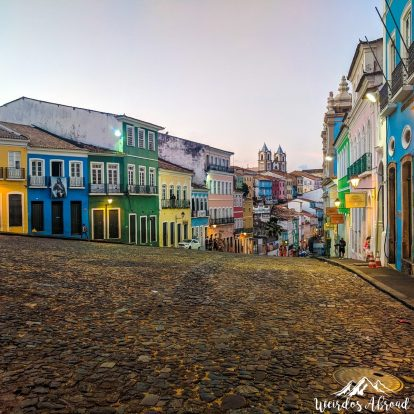 Pelourinho is the old historic center of Salvador.