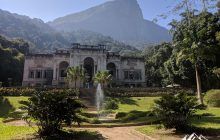 View of Corcovado and Christ the Redeemer from Parque Lage